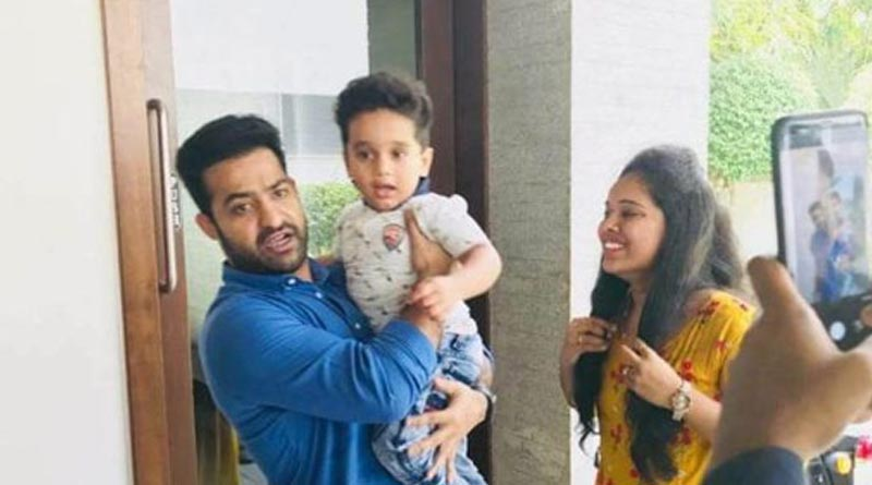 NTR Interact with his Fans At his Residence Photos
