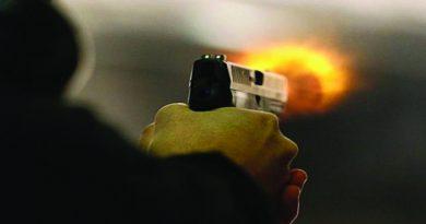 Man open firing