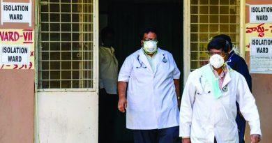 Coronavirus isolation ward in gandhi hospital