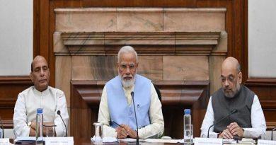 PM Modi At Union Cabinet Meeting