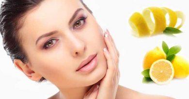 Skin care with lemon skins