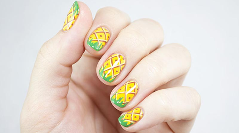 pineapple nail painting