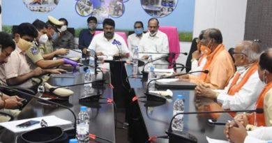 TS minister talasani review meeting