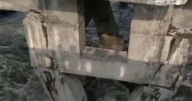 భారీ వర్షాలతో కుంగిన పురానాపూల్ బ్రిడ్జి