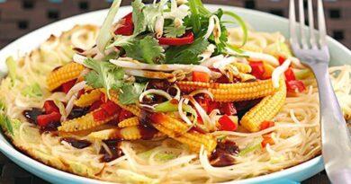 Omelette noodles-