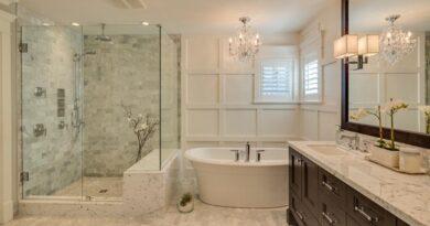 Make the bathroom look spacious
