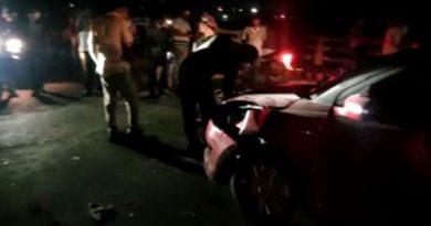 Car crash on flyover bridge: One killed