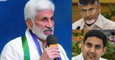 Vijayasaireddy tweets about Chandrababu and Lokesh