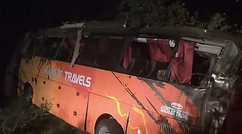 The bus accident in the Hassan Abdul Burhan area