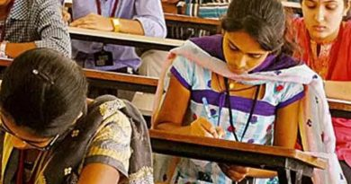 Students in Examination hall -File