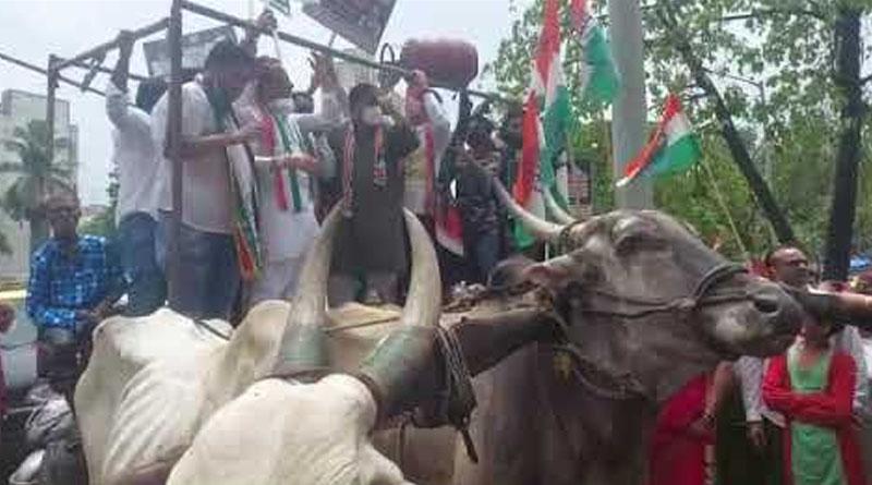 రాష్ట్ర వ్యాప్తంగా కాంగ్రెస్ పెద్ద ఎత్తున ధర్నా