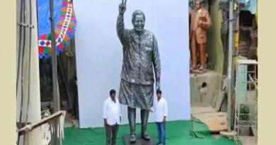 తెనాలి లో ఐరన్ స్క్రాప్తో ప్రధాని మోదీ విగ్రహం